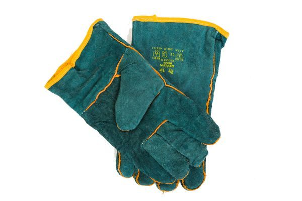 Leather lined work gloves