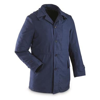 sku98a surplus navy blue serbian padded parka